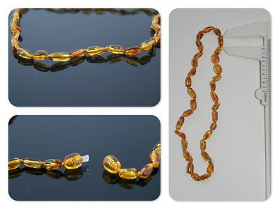 @ambarico_com Collar de ambar para dentición niños(as), (baltic amber necklace children) 5gr. (largo 34cm)