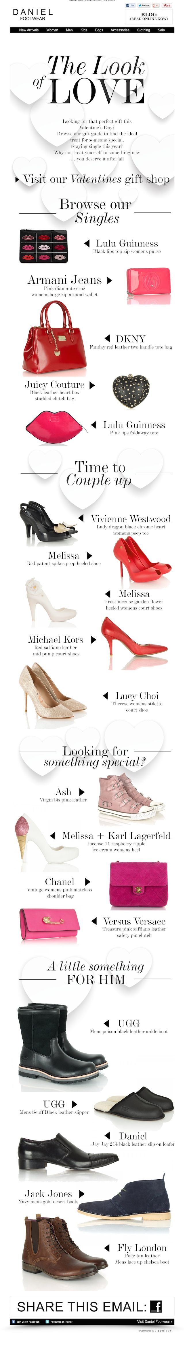 Valentine's Day Inspiration by Daniel Footwear. More Inspiring newsletters: http://freshmail.com/inspiring-newsletters