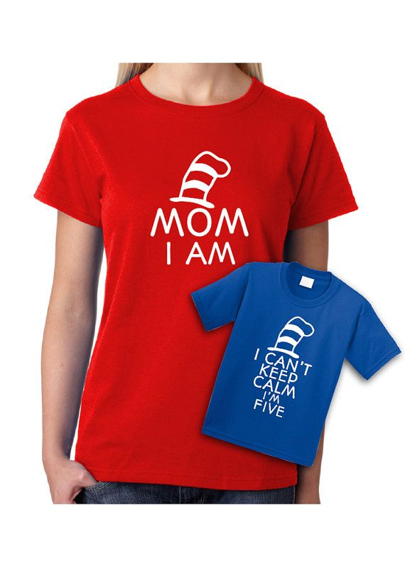 Matching Shirts Cat in the Hat I Can't Keep Calm by CoolTeesOnline