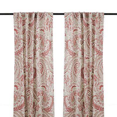 Red Jada Curtain Panel Set 84 in