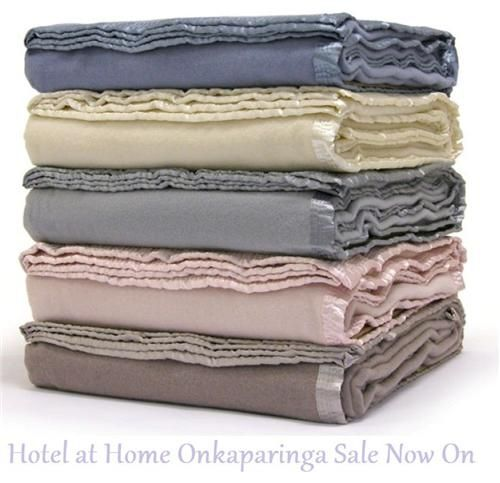 Onkaparinga Cashmere Touch New Wool Blanket Queen Size