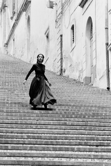 Dutch model Marpessa by Ferdinando Scianna Sicily, ITALY 1987