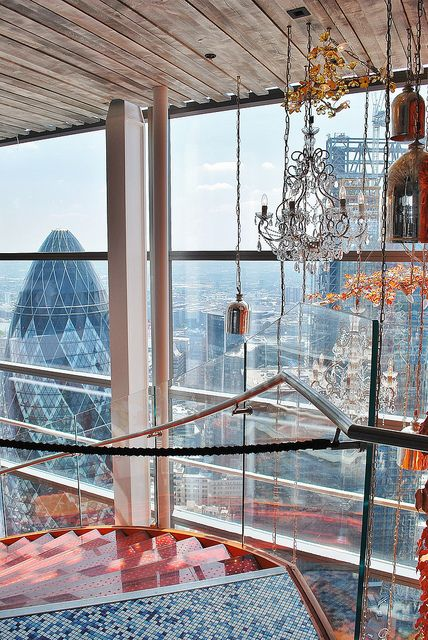 Duck & Waffle | London Highest Bar in the UK!! We might need to share a bottle of wine here