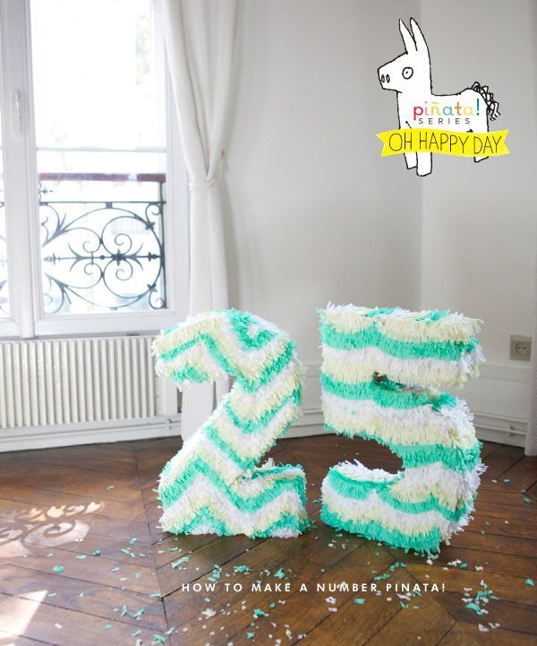 HOW TO MAKE A NUMBER PINATA by Oh Happy Day
