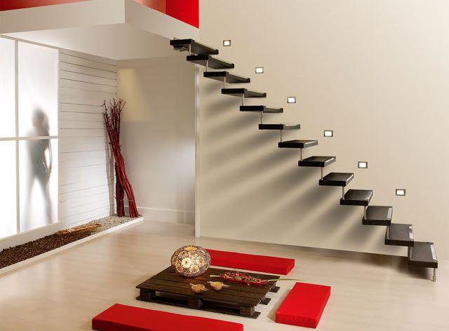 Las 25 mejores ideas sobre escaleras voladas en pinterest - Escaleras de madera pintor ...
