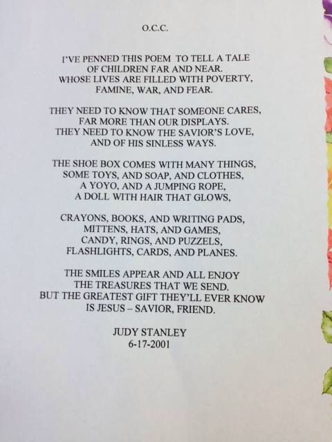 Quot We Love This Poem Written By Operation Christmas Child