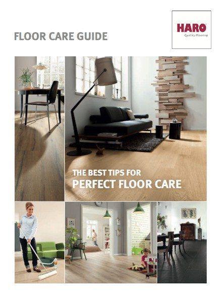 Floor care guide brochure
