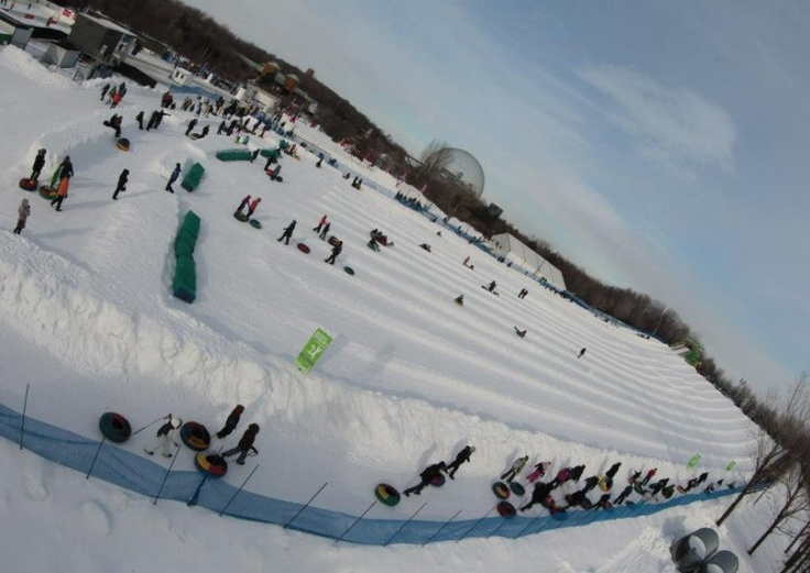 Montreal Snow Festival. Held in the Parc Jean-Drapeau, the event encourages everyone to have fun in the snow.