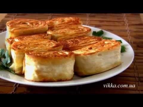 Рулетики из лаваша с курицей и сыром. Горячая закуска | NashaKuhnia.Ru