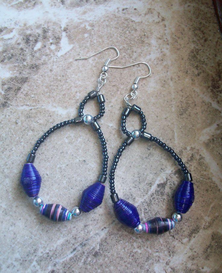 Ne Na Handmade paper beads earrings