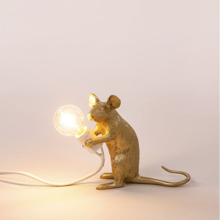 Gold Mouse Lamp in 2020 | Animal lamp, Table lamp, Room lamp