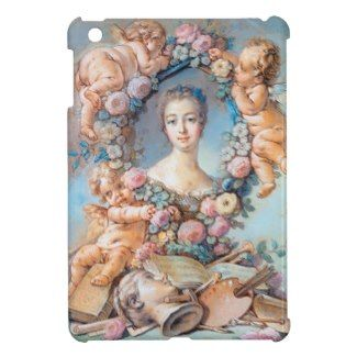 Madame de Pompadour François Boucher rococo lady iPad Mini Case #madame #pompadour #pastel #portrait #boucher #Paris #France #classic #art #custom #gift #lady #woman #girl