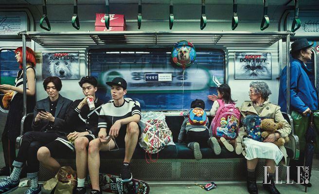 패션피플의 지하철 급습! | 엘르코리아(ELLE KOREA)