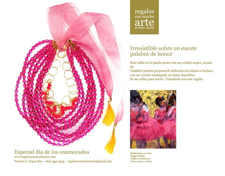 Collar El estreno  $160 - 125 €.  www.regalosconmuchoarte.com VENDIDO