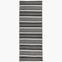 Teppe STORBORRE 80x200cm svart/hvit