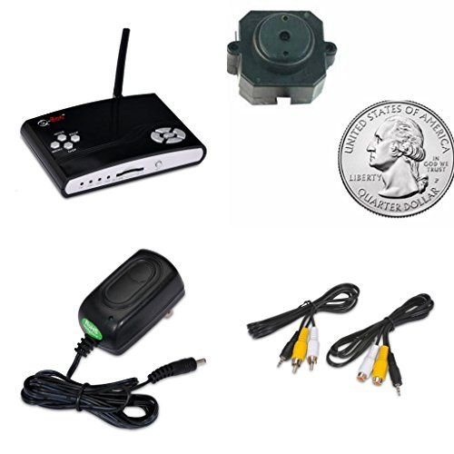 Q-SEE Surveillance Security System DVR Kit : 1 Spy Nanny Babysitter Video Recorder with 1 60 Wired tiny hideable Quarter Size Ultra Small Mini Indoor Color Camera with Audio