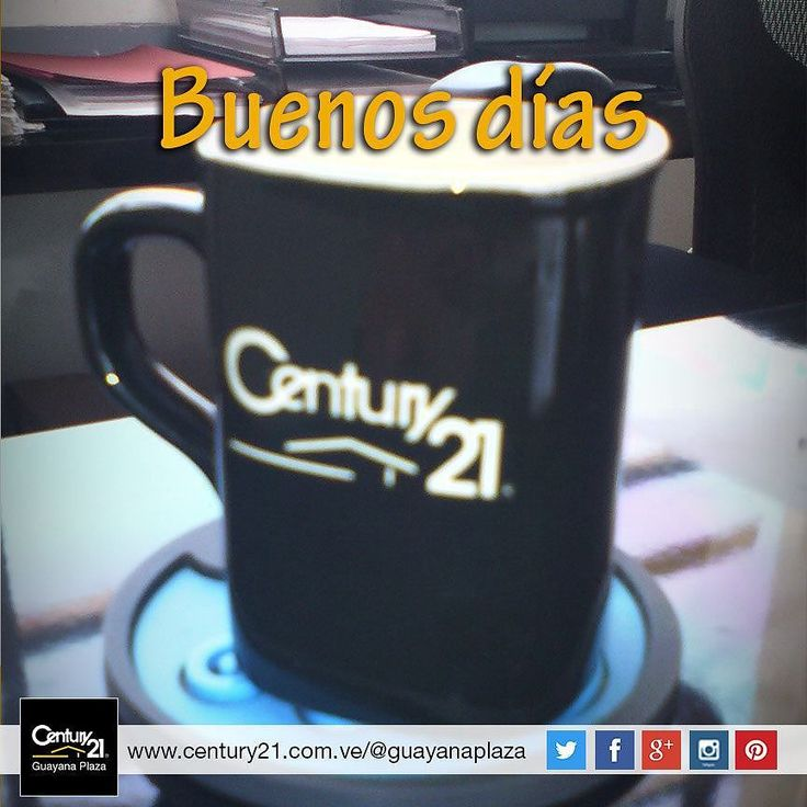 Hoy queremos decirte Buenos días! con una rica taza de café que tengas un #BuenViernes #DiaMundialdelaSonrisa #BienesRaíces #inmobiliaria #compra #venta #alquiler #oficina #local #casa #apartamento #terreno #Guayana #pzo #pzocity #C21 #Venezuela