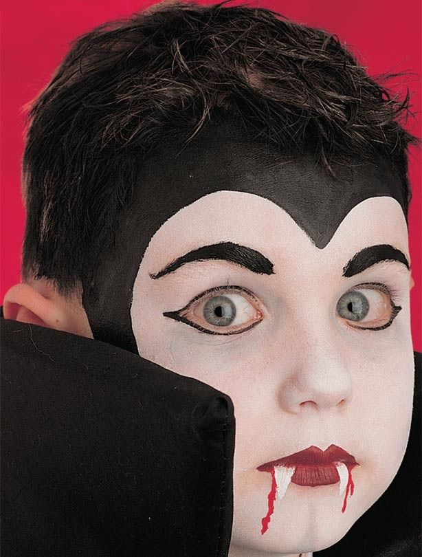 Face Painting Steps | Vampire face paint - Vampire face paint step 3: add the finishing ...