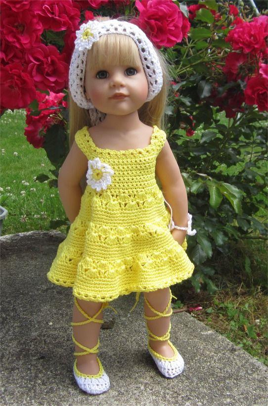 82- FICHE PATRON Tenue Paquerette au crochet pour poupée Hannah de Götz : Jeux, jouets par atelier-crochet