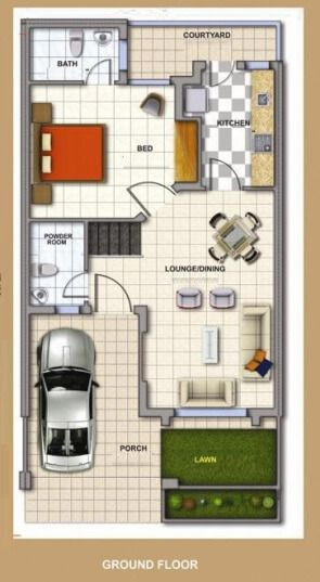 A Duplex House Plan Is For A Single Family Home That Is Built In Two Floors Having One Kitchen And Dining The Duplex House Plan Gives A Villa Look And Feel