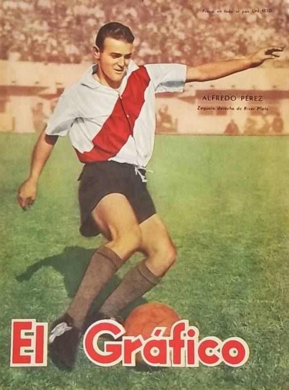 """Alfredo Ricardo Perez, known as a """"Gallego"""" (thats how people of Argentina call these who came to their country of Spain) on the cover of """"El Grafico"""" of 22nd June 1951"""