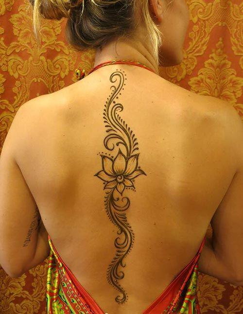 Simply stylish back henna lotus