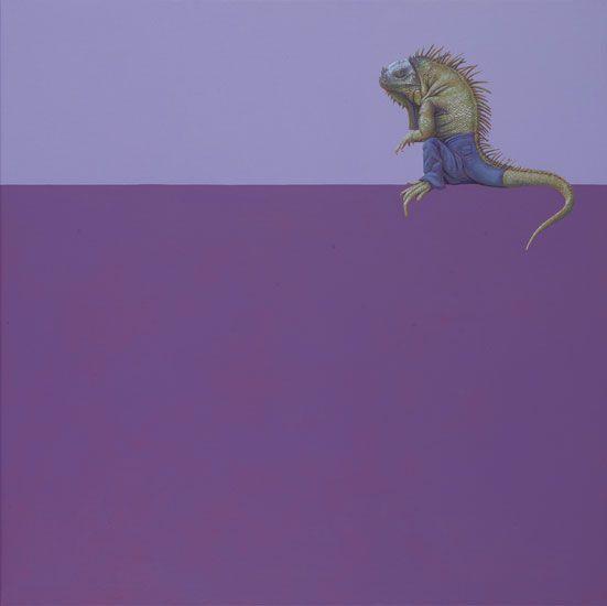 Iguana -    100 x 100 cm -   acrylverf op doek /   acrylic on canvas  2007 -  verkocht / sold