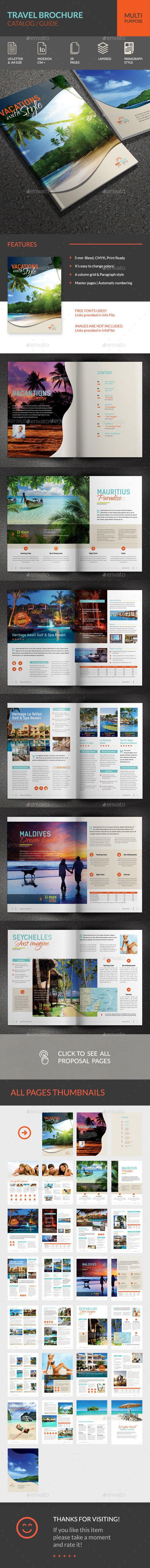Travel Brochure Template InDesign INDD. Download here: http://graphicriver.net/item/travel-brochure/14848974?ref=ksioks