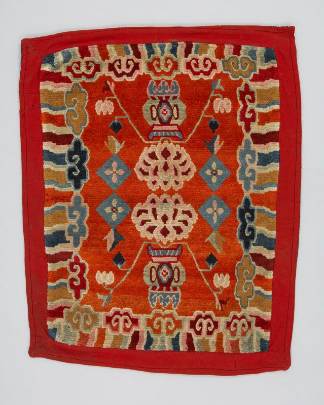 Wool saddle rug, Asia: East Asia, China, Tibet, Early 20th century.