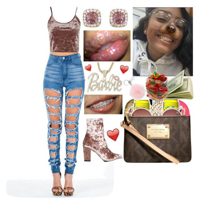 """"""""""" by officially-mya ❤ liked on Polyvore featuring Topshop, Nasty Gal, Selim Mouzannar and Michael Kors"""