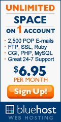 Only $4.95/month Bluehost will deliver for you:    Professional and Affordable Web Hosting with features:      Unlimited Domain Hosting      Unlimited GB Hosting Space      Unlimited GB File Transfer      Unlimited E-mail Accounts      Free Domain      Free Site Builder w/ templates      Secure Shell, SSL, FTP, Stats      CGI, Ruby (RoR), Perl, PHP, MySQL      $100 Google Advertising Offer      24/7 Phone, Chat & Email Support