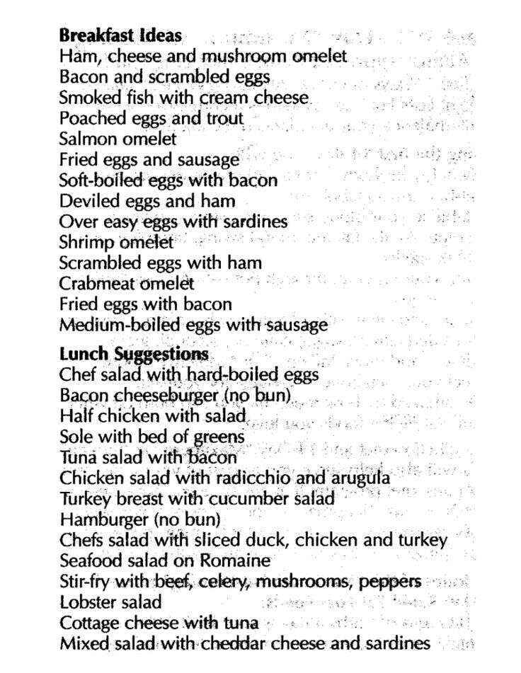 Atkins diet ideas