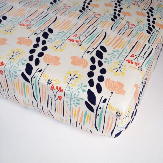 Nursery Baby Bedding - Girls Crib Sheets / Standard or Mini Crib Sheet / Changing Pad Covers / Fitted Crib Sheet / Design