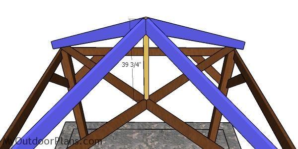 10x10 Gazebo Hip Roof Plans Myoutdoorplans Free Woodworking Plans And Projects Diy Shed Wooden Playhouse Pergola B In 2020 Diy Gazebo Gazebo Plans 10x10 Gazebo