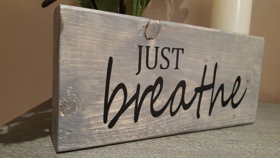 This wooden sign will add charm to any home. It is sanded to a smooth finish, stained weathered grey, hand painted and sealed for protection. It measures approximately 12 inches wide, 5.5 inches tall and 1.5 inches thick. Please note all items are hand made at the time of order. I try to