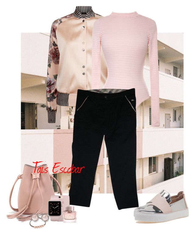 """""""Good Afternoon.. let's walk, shaw we? ☕🍰🍦"""" by tais-escobar ❤ liked on Polyvore featuring La Perla, Burberry, Stuart Weitzman, Monica Vinader and Miu Miu"""