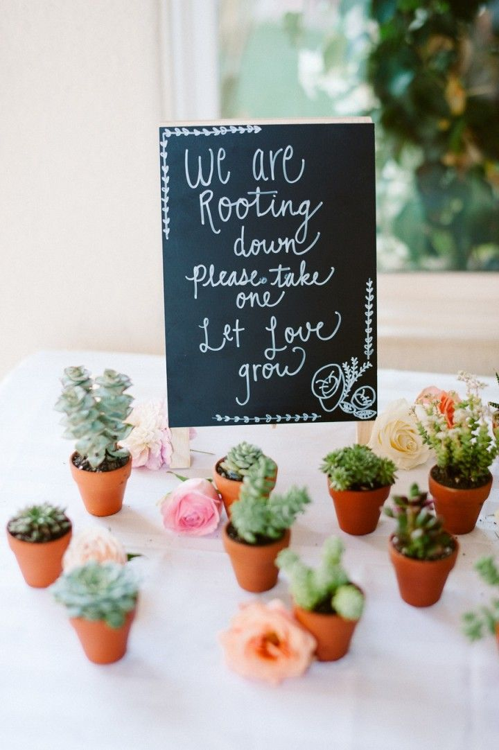 California Wedding Succulent Favors