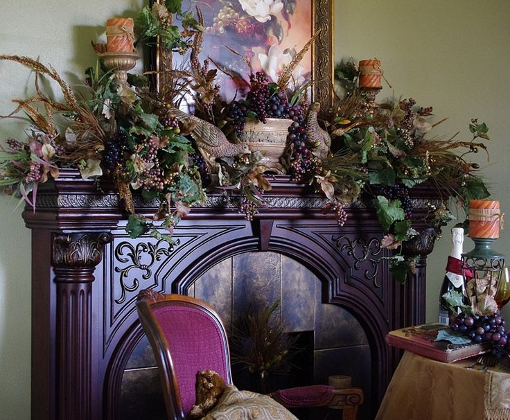Happy To Design: ~Autumn Abundance~...an Autumn Mantel