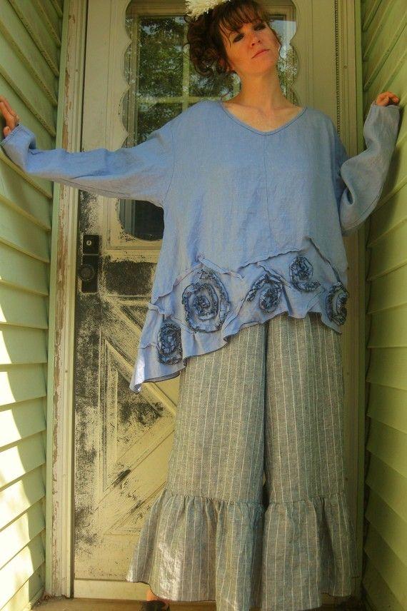SALE Swirly Slant Shirt