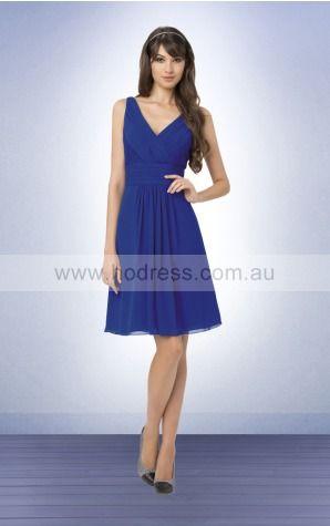 Sleeveless Zipper Shoulder Straps Knee-length Chiffon Evening Dresses etfa307204