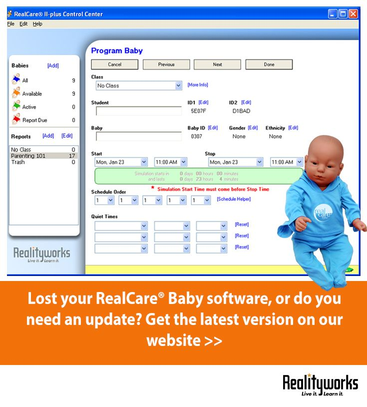 FACS teachers, did you know you could download the latest version of RealCare® Baby Control Center Software on our online Product Support Center?