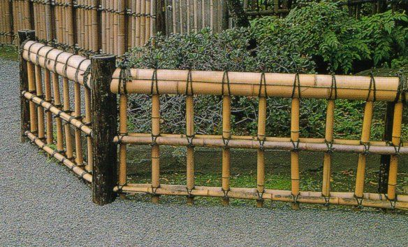 Bamboo Garden Fence Design Ideas