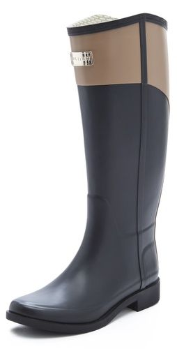 Grown-up wellies! Love the 2 tone, angled cut, and even the metallic logo.