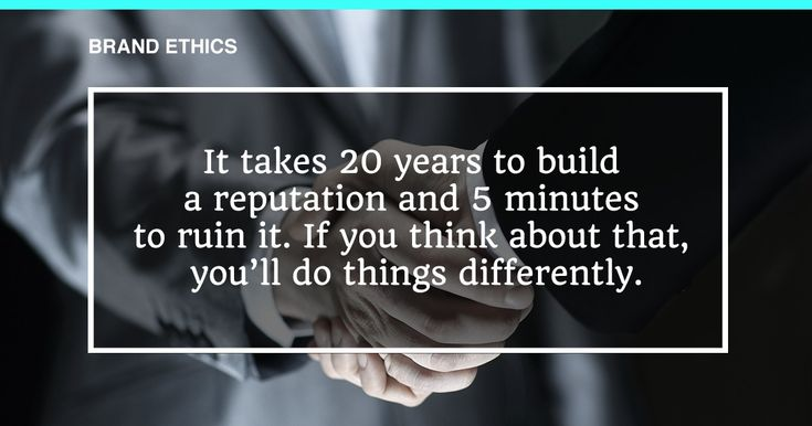 """""""It takes 20 years to build a reputation & 5 minutes to ruin it! If you think about that, you'll do things differently! #BrandEthics From #ProAuction - #Hospitality, #Catering & #HotelContent #Auctions - We Pride Ourselves On Our Reputation! #HappyMonday :)"""