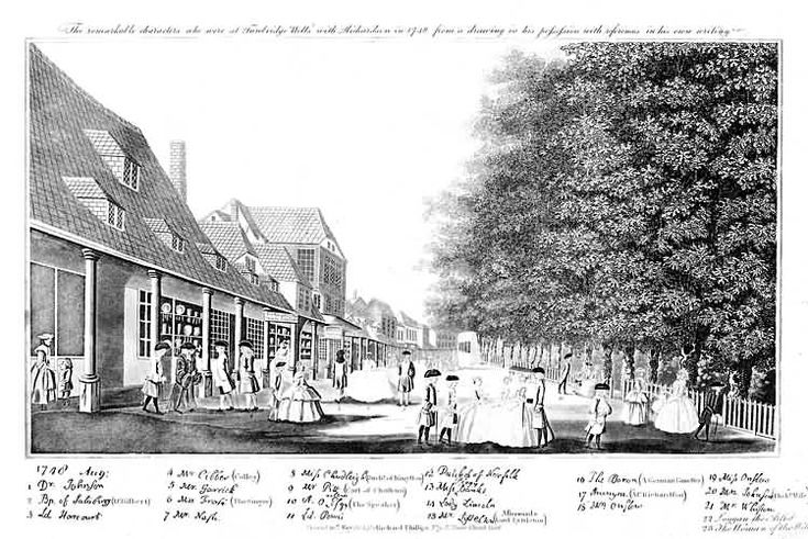 At the Pantiles with Mr Richardson, Tunbridge Wells - August 1748