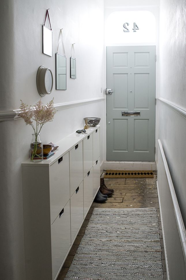 Narrow hallway storage