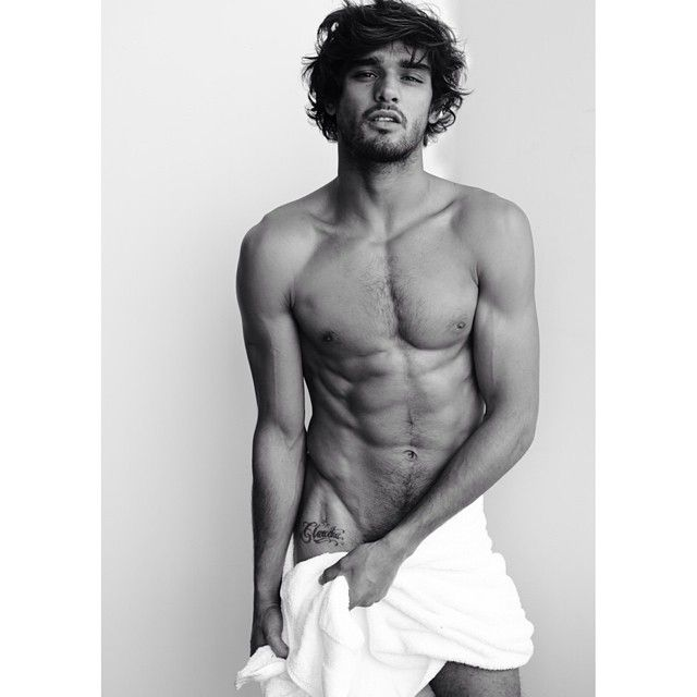 Marlon Teixeira Poses for Mario Testino's 'Towel Series'