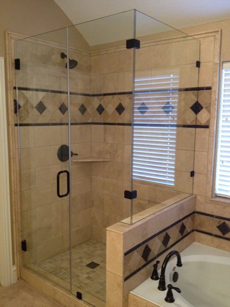 Master Bath Remodel Travertine Tile With Oil Rubbed