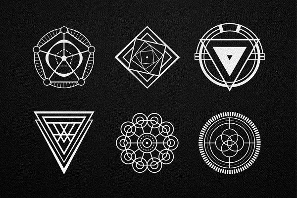 30 Sacred Geometry Vectors by Tugcu Design Co. on @creativemarket