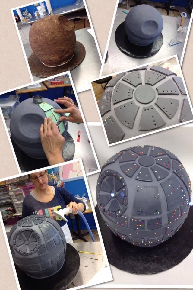 Just in case I ever need to make a Star Wars cake for someone - links not coming up but gives you the basic idea